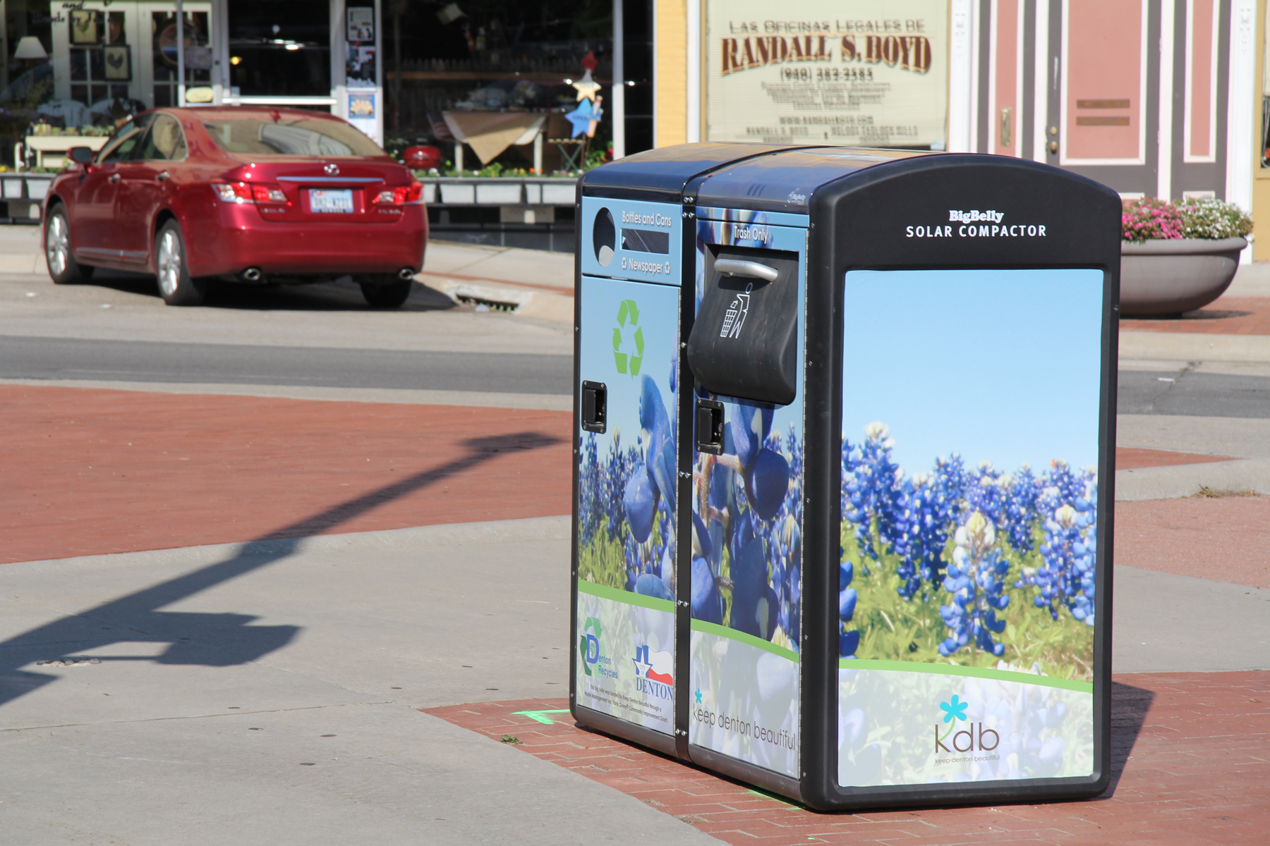 Big Belly Solar Powered Trash Cans